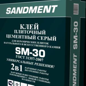 клей плиточный цементный SM-30