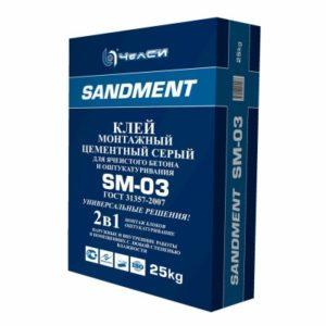 клей монтажный цементный для ячеистого блока SM-03